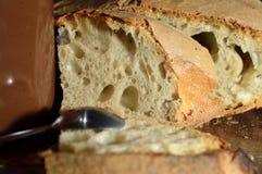 Ψωμί, πρόχειρο φαγητό, πρόγευμα Στοκ Φωτογραφίες