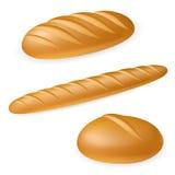 ψωμί ρεαλιστικά τρία Στοκ Φωτογραφία