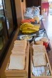 Ψωμί σάντουιτς σε μια σειρά Στοκ εικόνα με δικαίωμα ελεύθερης χρήσης