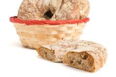 Ψωμί σε ένα καλάθι Στοκ εικόνες με δικαίωμα ελεύθερης χρήσης