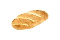 Ψωμί σε μια άσπρη ανασκόπηση Στοκ Εικόνα