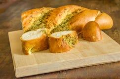 Ψωμί σκόρδου Στοκ Φωτογραφίες