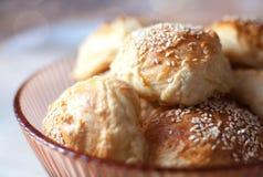 Ψωμί σουσαμιού κινηματογραφήσεων σε πρώτο πλάνο Στοκ Εικόνες