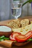 Ψωμί τυριών λαχανικών στοκ εικόνες