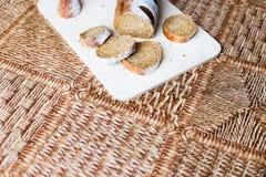 Ψωμί φαγόπυρου στον ξύλινο πίνακα Στοκ εικόνες με δικαίωμα ελεύθερης χρήσης