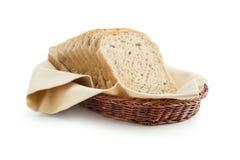 Ψωμί φρυγανιάς σε ένα καλάθι Στοκ Φωτογραφίες