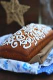 Ψωμί Χριστουγέννων με το λούστρο Στοκ εικόνα με δικαίωμα ελεύθερης χρήσης