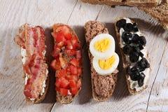 Ψωμί Bruschetta Στοκ Εικόνα