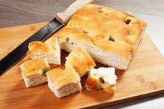 Ψωμί Focaccia Στοκ Εικόνες