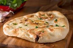 Ψωμί Naan σκόρδου Στοκ εικόνες με δικαίωμα ελεύθερης χρήσης