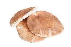 Ψωμί Pita που απομονώνεται στο άσπρο υπόβαθρο Στοκ Εικόνες