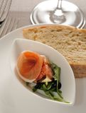 Ψωμί Pomegrarate ζαμπόν της Πάρμας Στοκ εικόνα με δικαίωμα ελεύθερης χρήσης