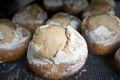 Ψωμιά στο φούρνο αρτοποιείων Στοκ Εικόνες