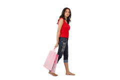 ψωνίζοντας γυναίκα Στοκ φωτογραφία με δικαίωμα ελεύθερης χρήσης