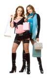 ψωνίζοντας δύο νεολαίες στοκ φωτογραφία