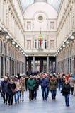 Ψωνίζοντας arcades, Βρυξέλλες, Βέλγιο στοκ εικόνες