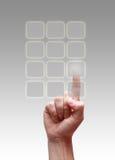 ωθήσεις χεριών κουμπιών Στοκ φωτογραφίες με δικαίωμα ελεύθερης χρήσης