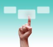 ωθήσεις χεριών κουμπιών Στοκ φωτογραφία με δικαίωμα ελεύθερης χρήσης