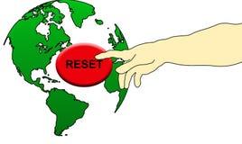 Ωθήστε το κουμπί παγκόσμιας αναστοιχειοθέτησης στοκ εικόνα