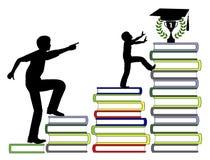 Ωθώντας παιδιά για να πετύχει στην εκπαίδευση ελεύθερη απεικόνιση δικαιώματος