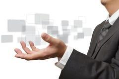 Ωθώντας ontouch διαπροσωπεία οθόνης χεριών στοκ φωτογραφίες με δικαίωμα ελεύθερης χρήσης