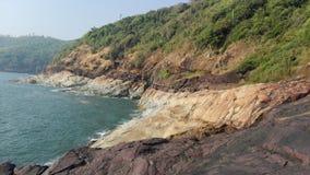 Ωκεάνεια χλωρίδα, θαλασσινά κοχύλια, φύκι Ινδία, Gokarna Στοκ φωτογραφίες με δικαίωμα ελεύθερης χρήσης