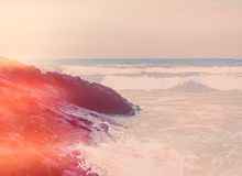 Ωκεάνια άποψη ακτών, τέλειοι ταξίδι και προορισμός διακοπών στοκ φωτογραφία