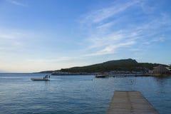 Ωκεάνια άποψη από την αποβάθρα στοκ εικόνα
