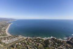 Ωκεάνια άποψη κόλπων της Σάντα Μόνικα Malibu στοκ εικόνες με δικαίωμα ελεύθερης χρήσης