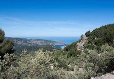 Ωκεάνια άποψη Port de Soller στοκ φωτογραφίες με δικαίωμα ελεύθερης χρήσης