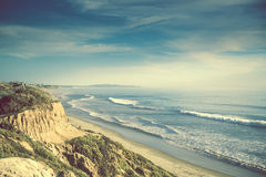 Ωκεάνια ακτή Καλιφόρνιας Encinitas Στοκ Εικόνα