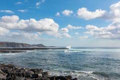 Ωκεάνια ακτή στο τουριστικό θέρετρο Playa de las Αμερική, Tenerif Στοκ Φωτογραφίες