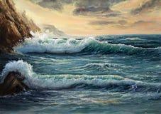 Ωκεάνια ακτή ελεύθερη απεικόνιση δικαιώματος