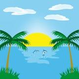 ωκεάνια ανατολή ελεύθερη απεικόνιση δικαιώματος