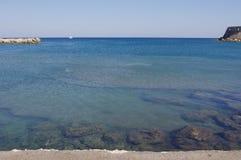 Ωκεάνια βάρκα άποψης στοκ φωτογραφίες