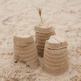 ωκεάνια ειρηνική άμμος κάστρων Στοκ φωτογραφίες με δικαίωμα ελεύθερης χρήσης