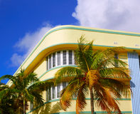 Ωκεάνια λεωφόρος Art Deco Φλώριδα Μαϊάμι Μπιτς Στοκ φωτογραφία με δικαίωμα ελεύθερης χρήσης