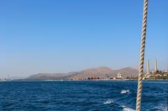 Ωκεάνια θέα βουνού οριζόντων τοπίων της Misty Στοκ φωτογραφίες με δικαίωμα ελεύθερης χρήσης