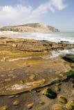 ωκεάνια κάθετη όψη βράχου Στοκ φωτογραφία με δικαίωμα ελεύθερης χρήσης
