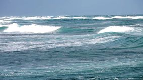 Ωκεάνια κύματα κοντά στην ακτή απόθεμα βίντεο