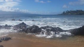 Ωκεάνια κύματα Napili στοκ φωτογραφία