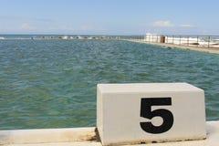 Ωκεάνια λουτρά και αρχικός φραγμός 5 Merewether Στοκ φωτογραφίες με δικαίωμα ελεύθερης χρήσης