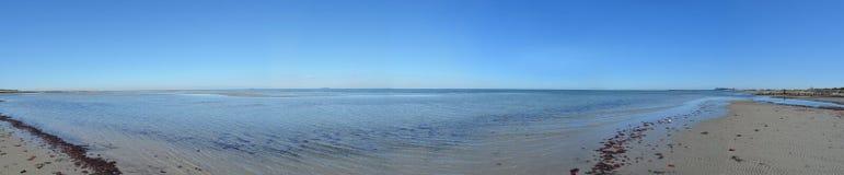 Ωκεάνια παραλία άμμου πανοράματος νησιών Fehmarn Στοκ Εικόνες