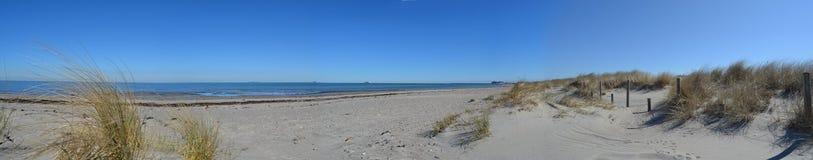 Ωκεάνια παραλία άμμου πανοράματος νησιών Fehmarn Στοκ φωτογραφίες με δικαίωμα ελεύθερης χρήσης