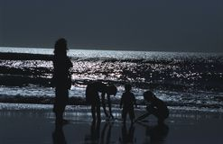 ωκεάνια σκιαγραφία Στοκ Φωτογραφίες