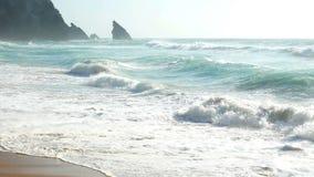 Ωκεάνια φύση νερού κυμάτων απόθεμα βίντεο