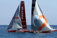 Ωκεάνια sailboats φυλών της VOLVO στη φυλή Στοκ Εικόνα