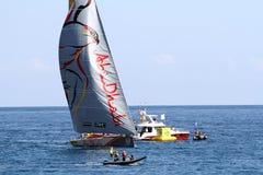 Ωκεάνια sailboats φυλών της VOLVO στη φυλή Στοκ εικόνες με δικαίωμα ελεύθερης χρήσης