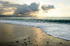 Ωκεάνιες ακτίνες ηλιοβασιλέματος Στοκ φωτογραφία με δικαίωμα ελεύθερης χρήσης