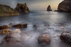 ωκεάνιες γυναίκες βράχων του Μεξικού νησιών Στοκ Φωτογραφία